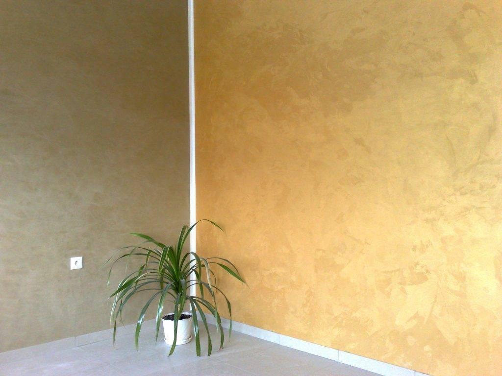 Неповторимый интерьер вместе с перламутровой краской для стен