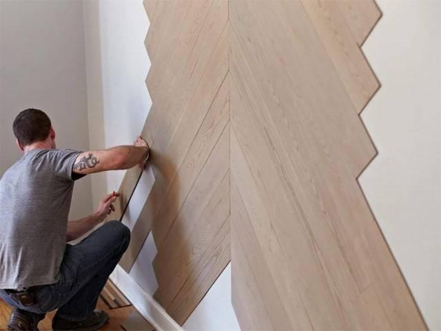 Ламинат на стене. новый тренд способы крепления ламината к стене