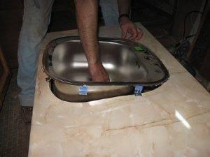 Как установить накладную мойку - только ремонт своими руками в квартире: фото, видео, инструкции