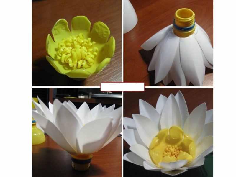 Цветы из пластиковых бутылок: как сделать? пошаговые мастер-классы с фото