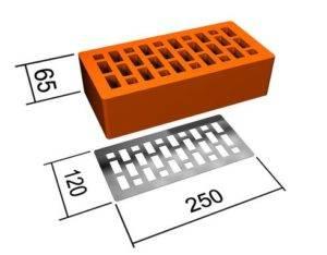 Размер кирпича обыкновенного красного полнотелого: характеристики