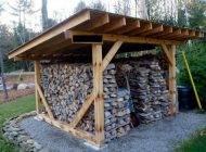 Как сделать навес на даче для дров своими руками?