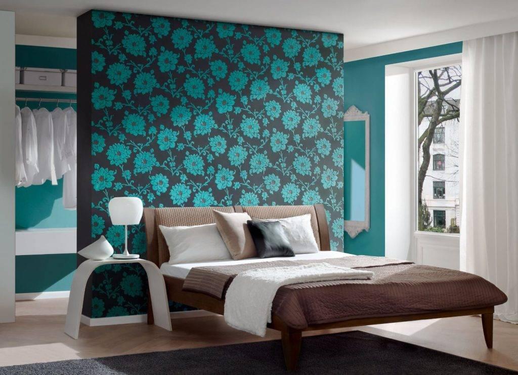 Бирюзовая спальня (68 фото): дизайн интерьера в шоколадных тонах и бирюзово-коричневом цвете