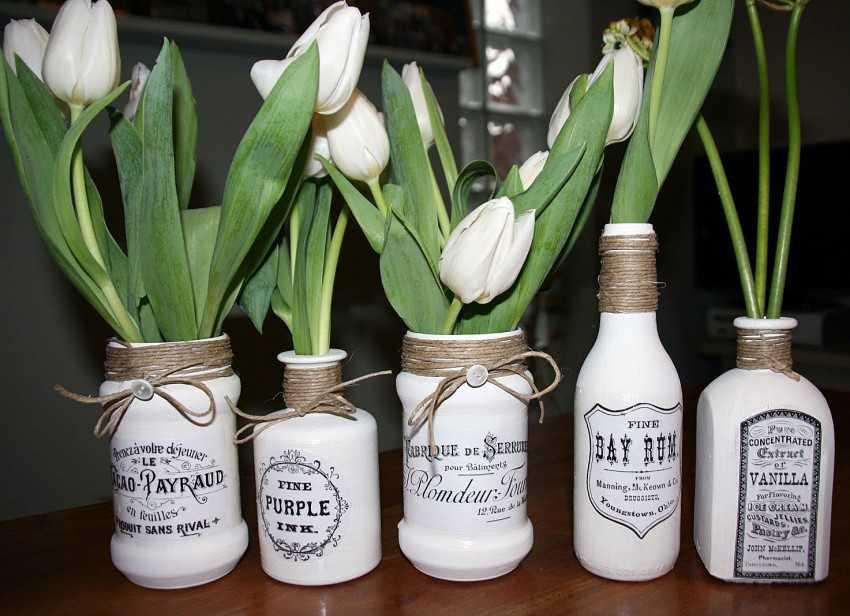 Декор вазы своими руками, декорирование высоких напольных ваз для цветов, как украсить стеклянную вазу, декор из кожи, веток