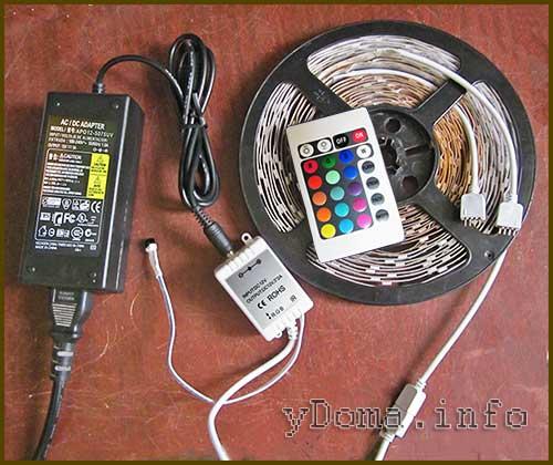 Как подключить светодиодную ленту к компьютеру к блоку питания правильно