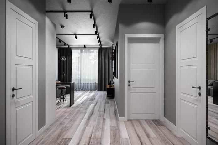 Белые межкомнатные двери в интерьере: классификация и дизайн