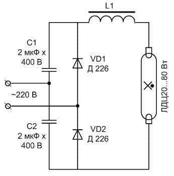 Как подключить лампу дневного света со стартером - всё о электрике