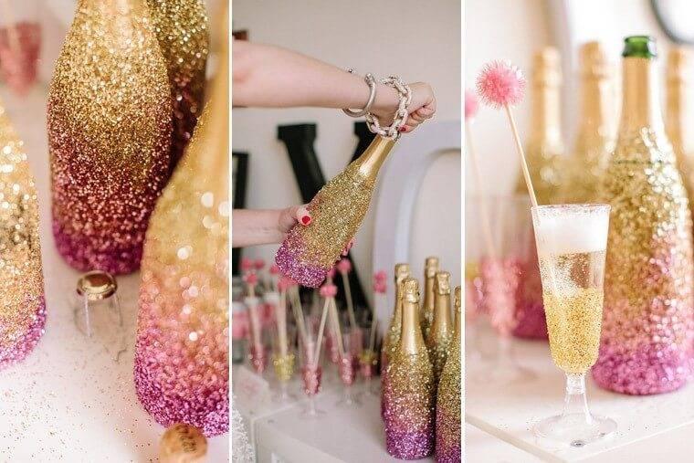 Как украсить бутылку шампанского на новый год: простые решения