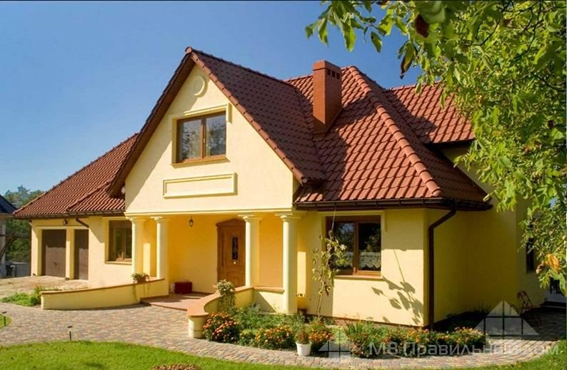 Сочетание цветов фасада дома - гармония цвета (+фото)