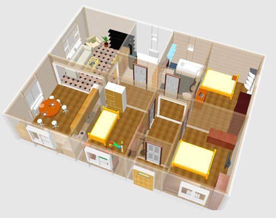 План одноэтажного дома: проекты с фото-примерами, планировки
