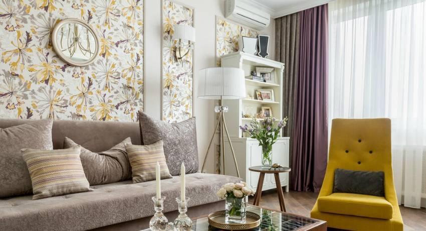 Как выбрать обои для гостиной: 85 идей (фото)
