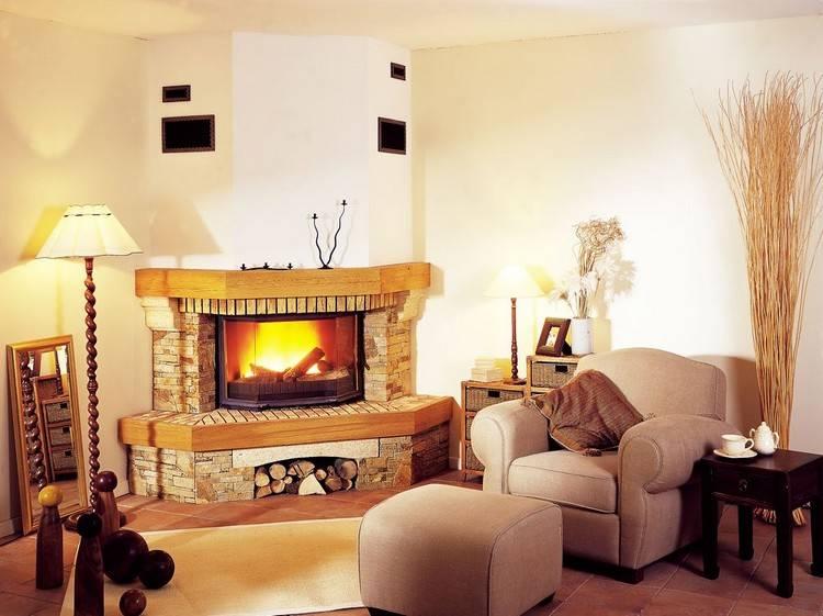 Функциональные электрические камины в интерьере гостиной: фото и 11 достоинств