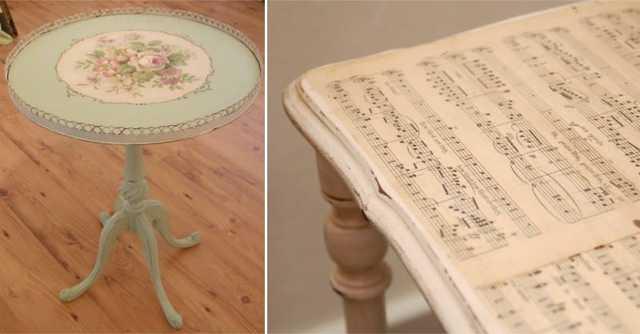 Мастер-класс по декупажу старого письменного стола вырезками из журналов, салфетками или обоями