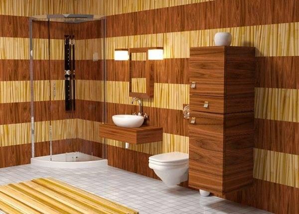 Ванная в деревянном доме: 200+ (фото) отделка, обустройство