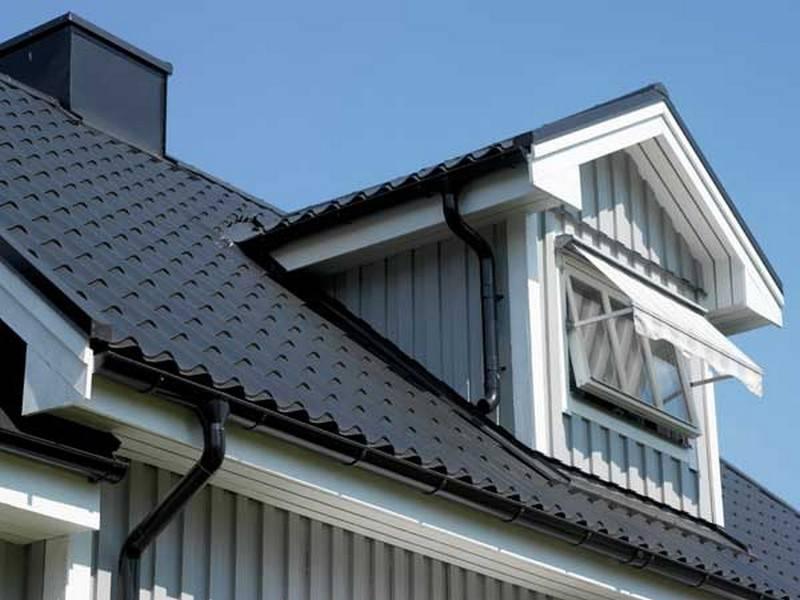 Виды металлочерепицы, цвета. фото домов
