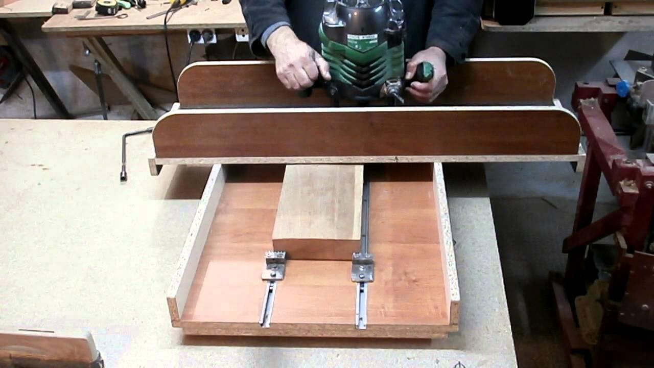 Как сделать фуговальный станок из ручного фрезера?