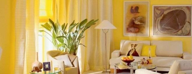 Желтые стены: 135 фото идей и обзор основных идей оформления желтых стен