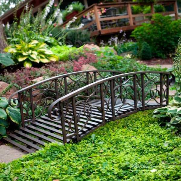 Декоративный мостик для дачи своими руками - лучшие сочетания и простые проекты (155 фото)