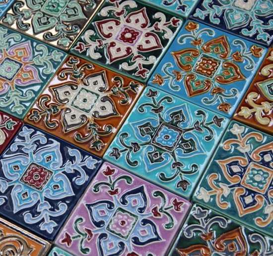 Цветовые решения ванной комнаты в марокканском стиле