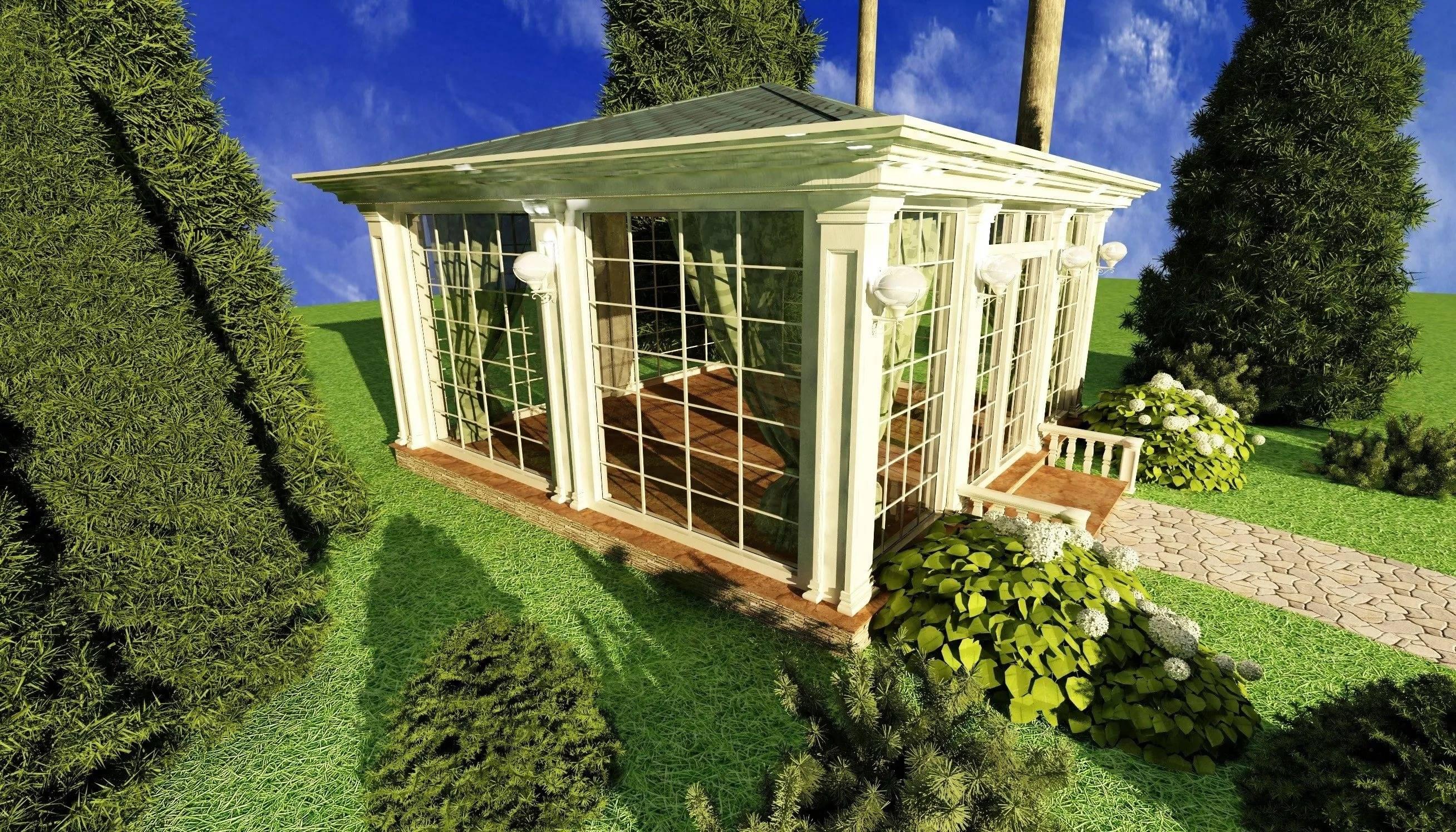 Закрытые беседки для дачи (71 фото): зимняя конструкция, дачные крытые беседки из бруса и стекла, бюджетные варианты, дизайн сооружения закрытого типа