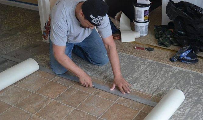 Как положить линолеум на бетонный пол: 4 способа прикрепить линолеум