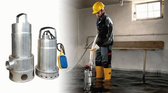 Дренажный погружной насос для грязной воды