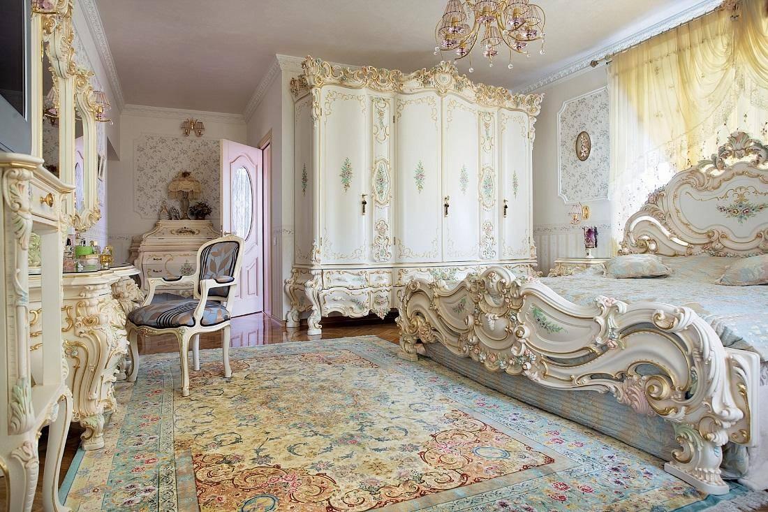Роскошно и романтично: как оформить спальню в стиле барокко (+86 фото, видео)