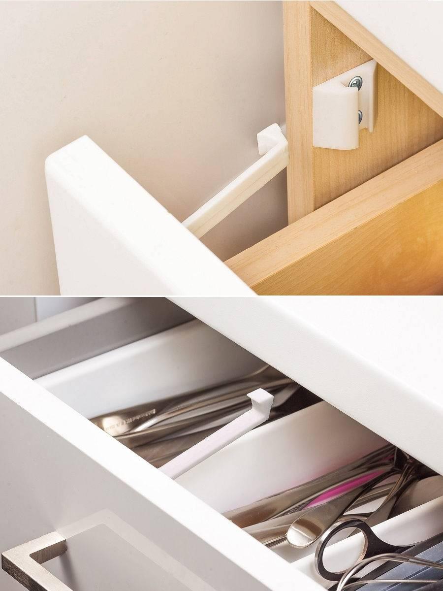 Как закрыть шкаф купе и ящики от маленьких детей своими руками?