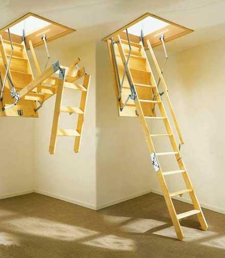 Лестница на чердак своими руками: фото, видео