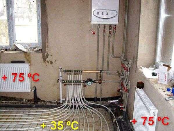 Монтаж смесительного узла для теплых полов своими руками