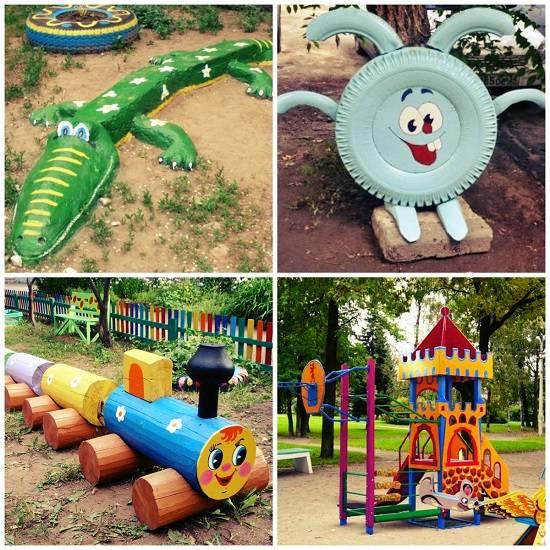 Детские площадки на даче: лучшие идеи
