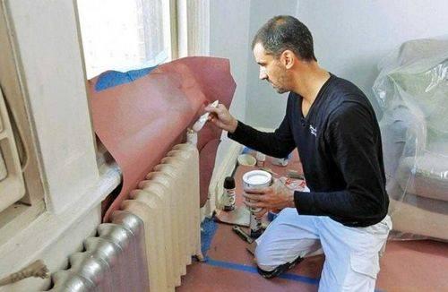 Краска для радиаторов отопления и батарей: эмаль акриловая цветная для старых и расчет