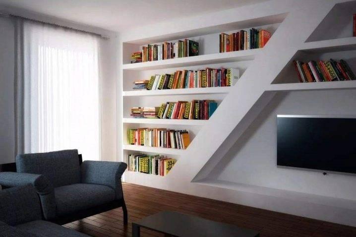Удобные полки из гипсокартона: 5 комнат, в которых они уместны