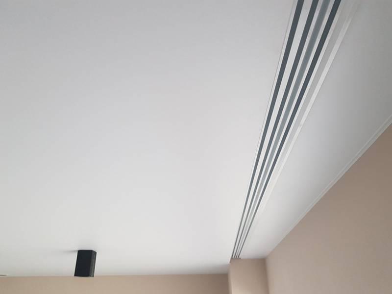 Ниша для штор в натяжном потолке тканевом и подвесном и технология изготовления
