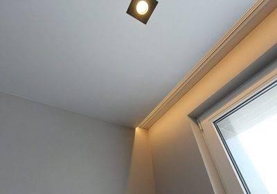 Короб из гипсокартона под натяжной потолок и нишу для штор