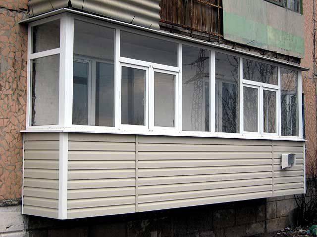 Способы наружной отделки балкона разными материалами