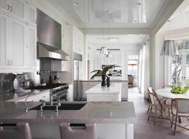 Как устроить освещение на кухне с натяжным потолком? (+35 фото красивых вариантов)