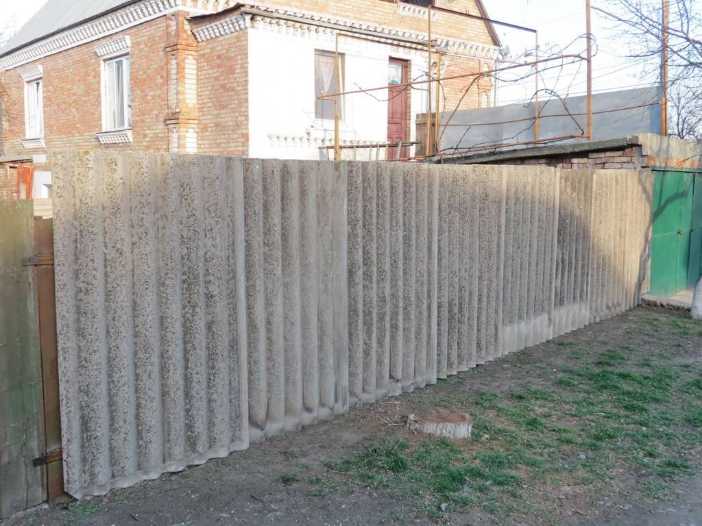 Забор из шифера своими руками - всё о воротах и заборе