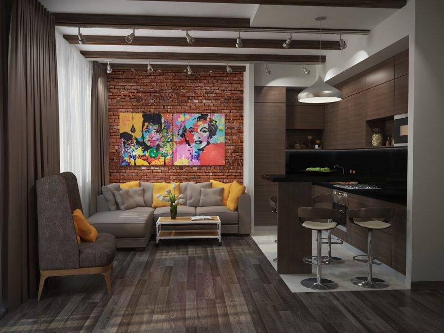 Дизайн кухни-гостиной в квартире: 7 современных проектов