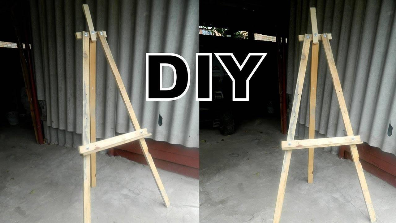 Как сделать настольный мольберт своими руками в домашних условиях – чертежи и размеры, инструменты и материалы, пошаговая инструкция, изготовление мини-конструкции