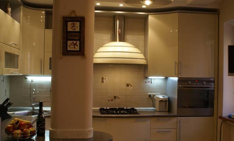 Как спрятать вытяжку на кухне под гипсокартон