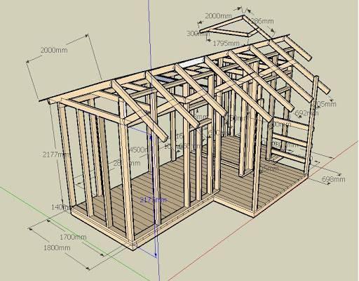 Строим деревянный сарай своими руками — передаем суть