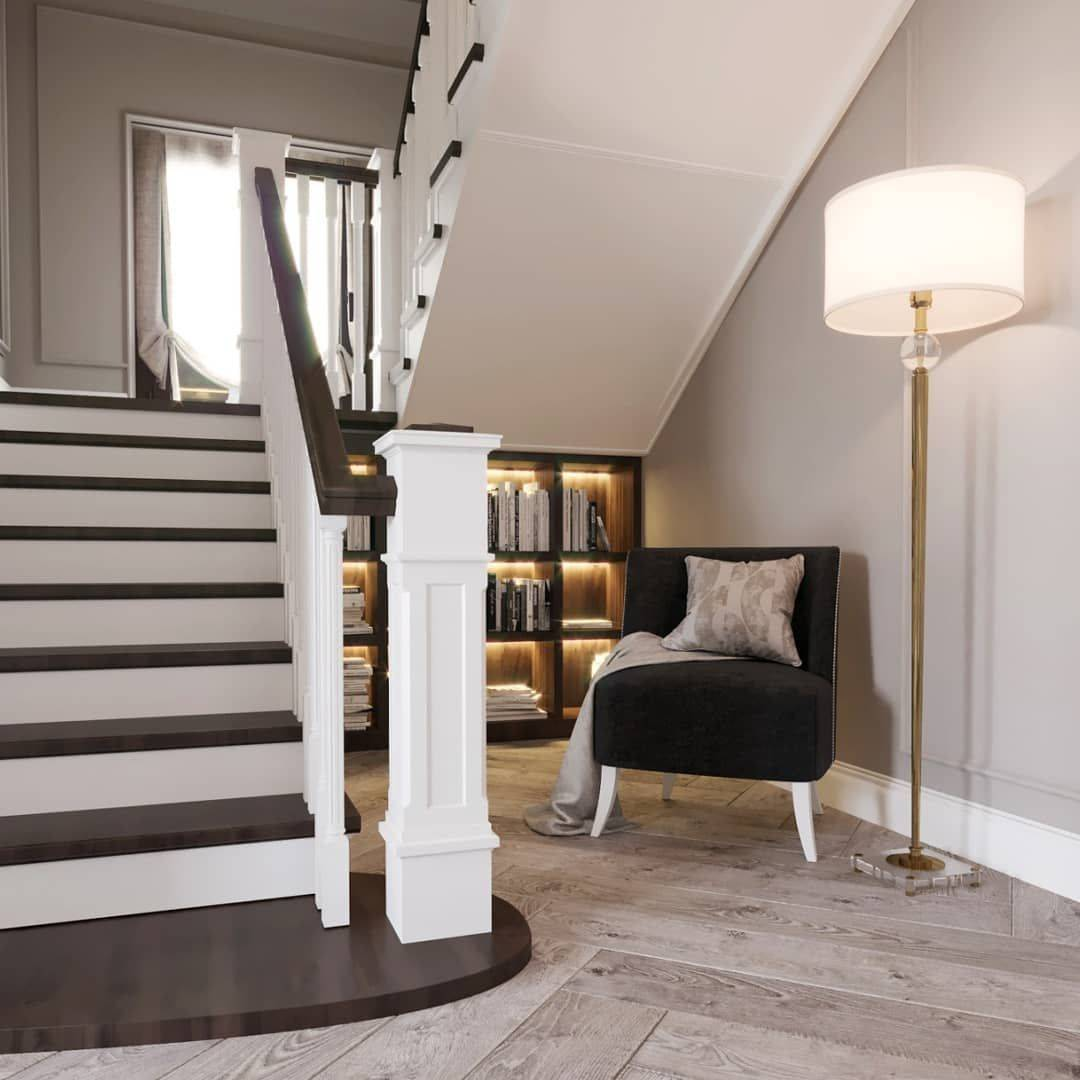 Особенности дизайна прихожей с лестницей в частном доме, виды и материалы изготовления