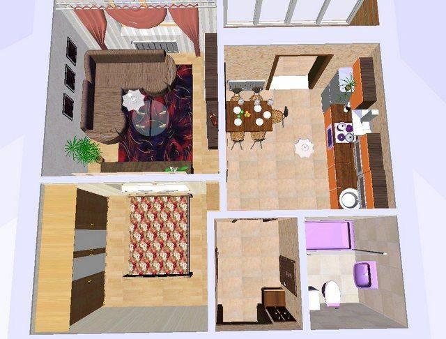 Варианты и особенности перепланировки однокомнатной квартиры