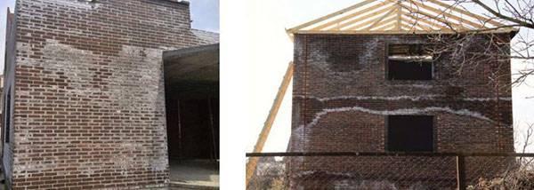 Борьба с высолами на фасаде: как удалить высолы с камня и причины их образования