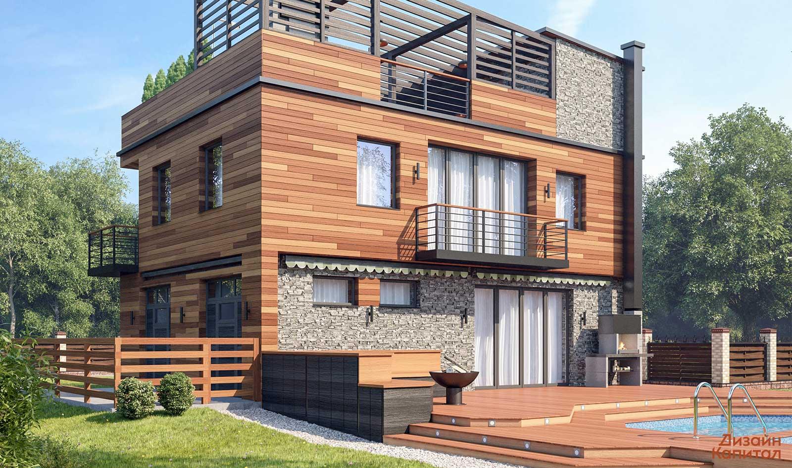 Современные фасады домов и отделочные материалы на 2019+ фото современного дома