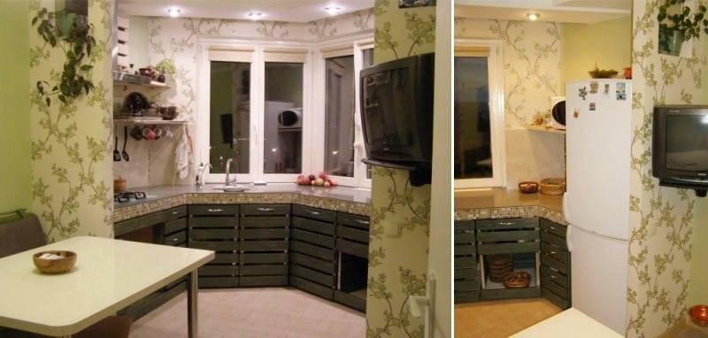 Как оформить эркерное окно на кухне?