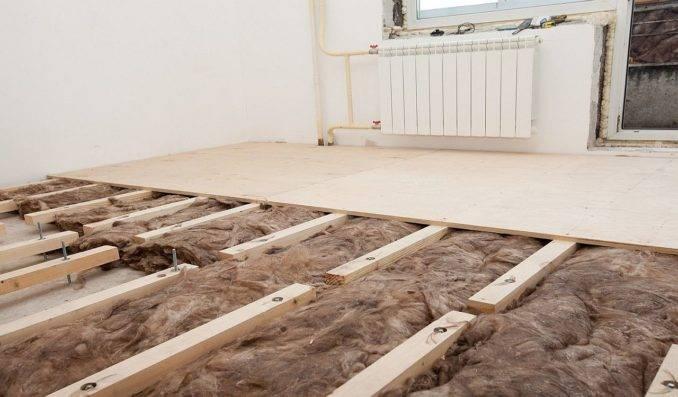 Утеплитель для пола: по бетону, в деревянном доме и для теплого пола