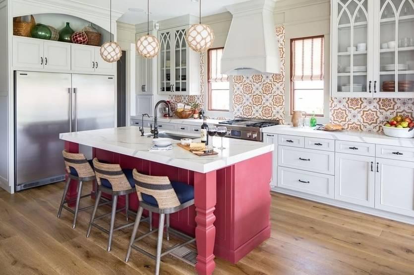 Дизайн кухни в стиле кантри (70 фото) - идеи интерьеров, ремонт и отделка
