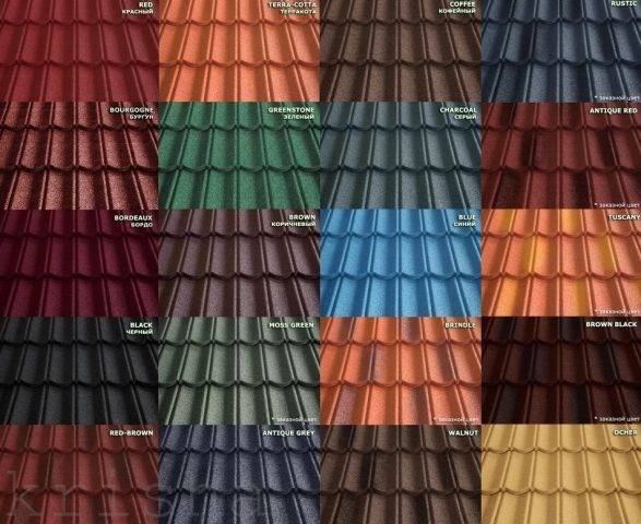 Цвета металлочерепицы (53 фото): цветовая палитра для крыши, гамма цветов металлопрофиля и внешний декор домов, стандартные оттенки, «вишня» и «шоколад»